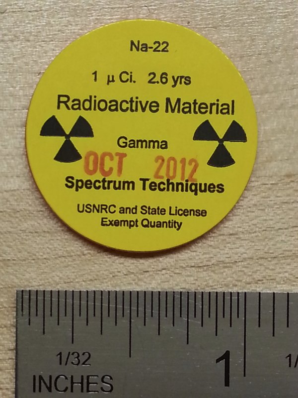 Sodium-22 disk